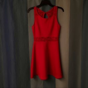 Forever 21 flirty red dress